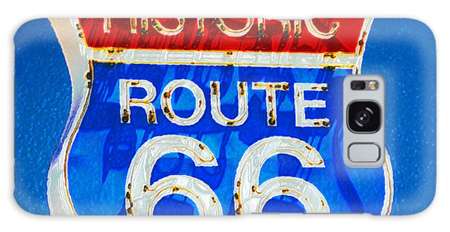 Historic Route 66 Galaxy S8 Case featuring the painting Colorful Route 66 by David Lee Thompson