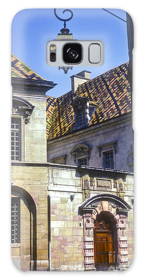 Dijon France Building Buildings Structures Structure Tile Rooftop Tiles Rooftops City Cities Cityscape Cityscapes Galaxy S8 Case featuring the photograph Colorful Tiled Rooftops by Bob Phillips