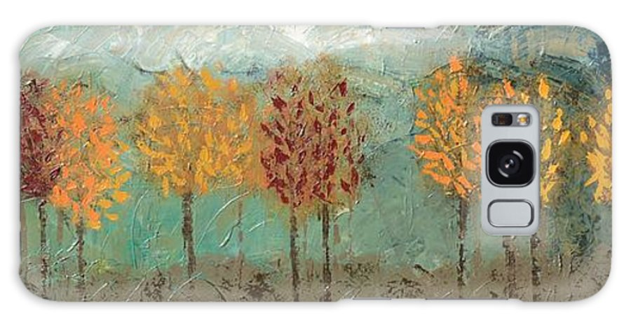 Fall Trees Galaxy S8 Case featuring the painting Colorful Trees by Linda Bailey