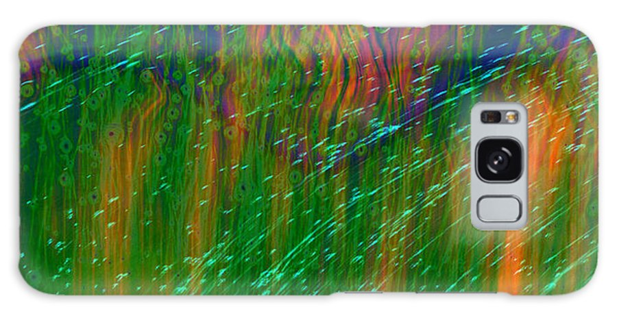 Abstract Galaxy S8 Case featuring the digital art Colors Of Grass by Linda Sannuti
