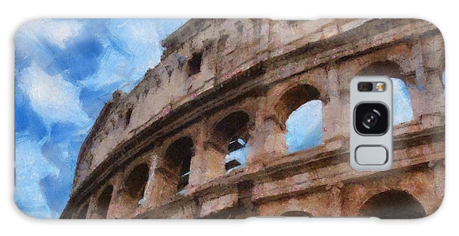 Archaeology Galaxy S8 Case featuring the painting Colosseo by Jeffrey Kolker