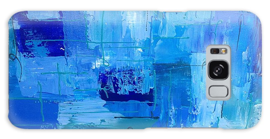 Abstract Galaxy S8 Case featuring the painting Colour Blue 2 by Judi Goodwin