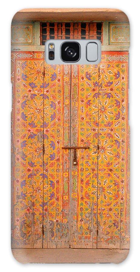 Door Galaxy Case featuring the photograph Colourful Entrance Door Sale Rabat Morocco by Ralph A Ledergerber-Photography