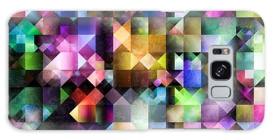 Fractal Galaxy S8 Case featuring the digital art Colourful Fractal Jewels by Hakon Soreide