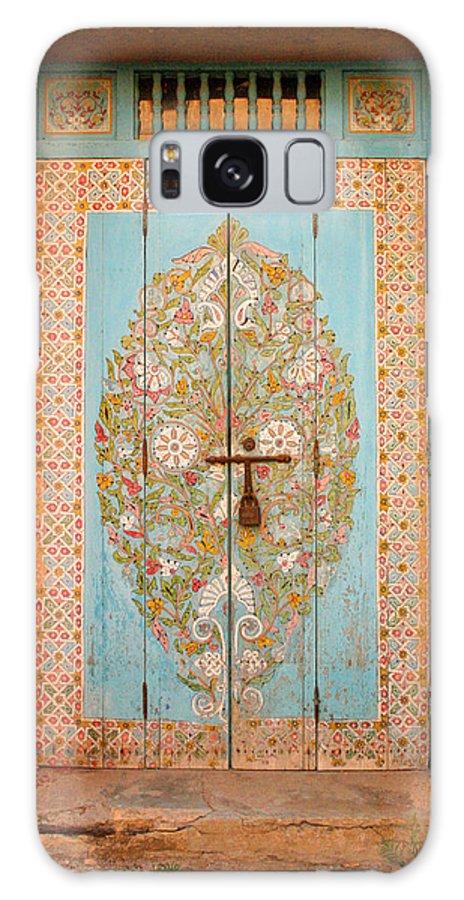 Door Galaxy Case featuring the photograph Colourful Moroccan Entrance Door Sale Rabat Morocco by Ralph A Ledergerber-Photography