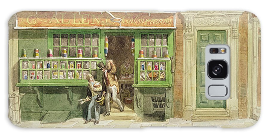 Exterior Galaxy S8 Case featuring the photograph Colourmans Shop, St Martins Lane, 1829 Wc On Paper by George the Elder Scharf