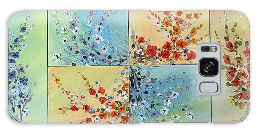 Flowers Galaxy S8 Case featuring the painting Combo Flowers by Dorothy Maier