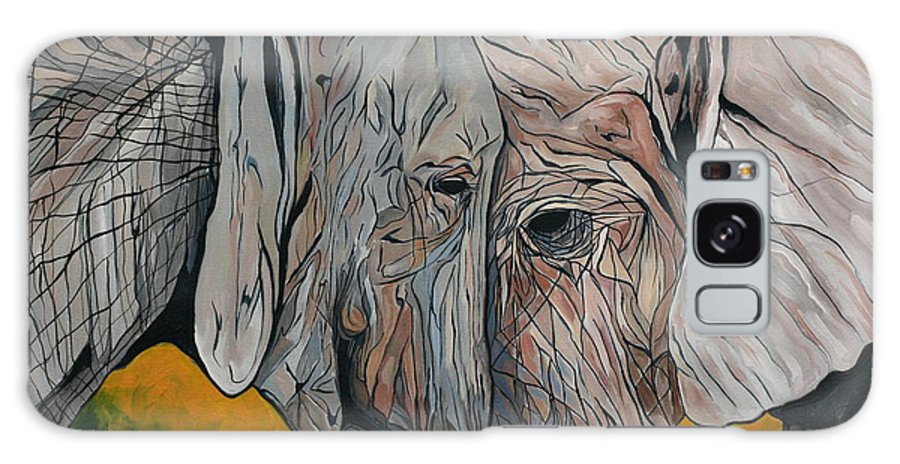 Elephant Galaxy Case featuring the painting Comfort by Aimee Vance