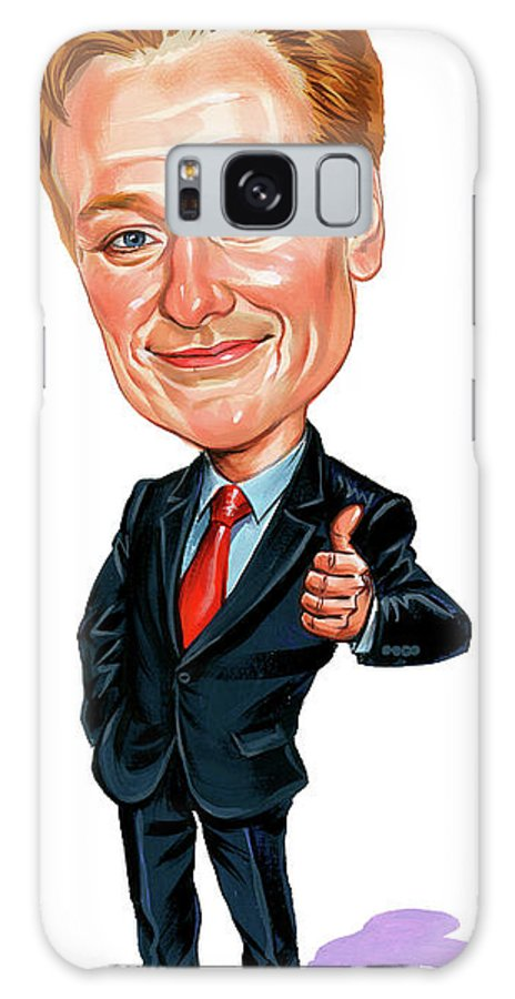 Conan O'brien Galaxy S8 Case featuring the painting Conan O'brien by Art