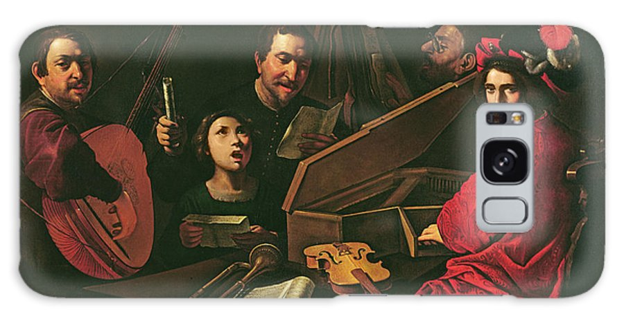 Musiciens Et Chanteurs Galaxy S8 Case featuring the photograph Concert With Musicians And Singers, C.1625 Oil On Canvas by Pietro Paolini