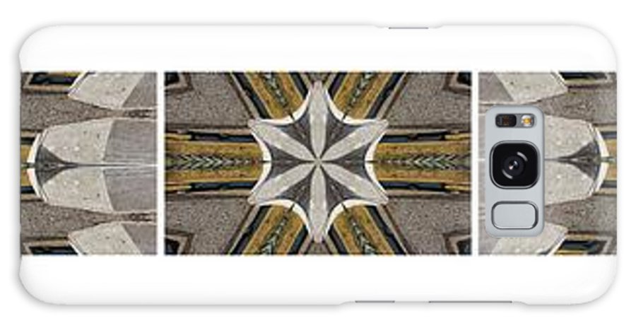 Concrete Flowers Kaleidoscope Pentaptych Galaxy S8 Case featuring the photograph Concrete Flowers - Kaleidoscope - Pentaptych by Barbara Griffin