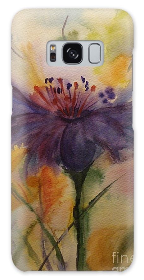 Purple Galaxy S8 Case featuring the painting Coneflower by Bonnie Schallermeir