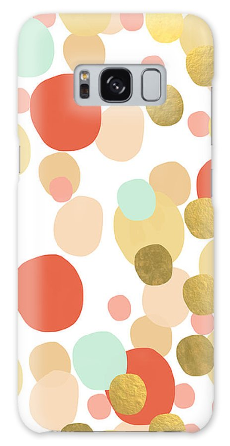 Confetti Galaxy S8 Case featuring the painting Confetti- Abstract Art by Linda Woods