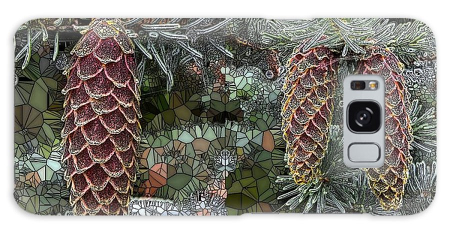 Collage Galaxy S8 Case featuring the digital art Conifer Cones by Ron Bissett