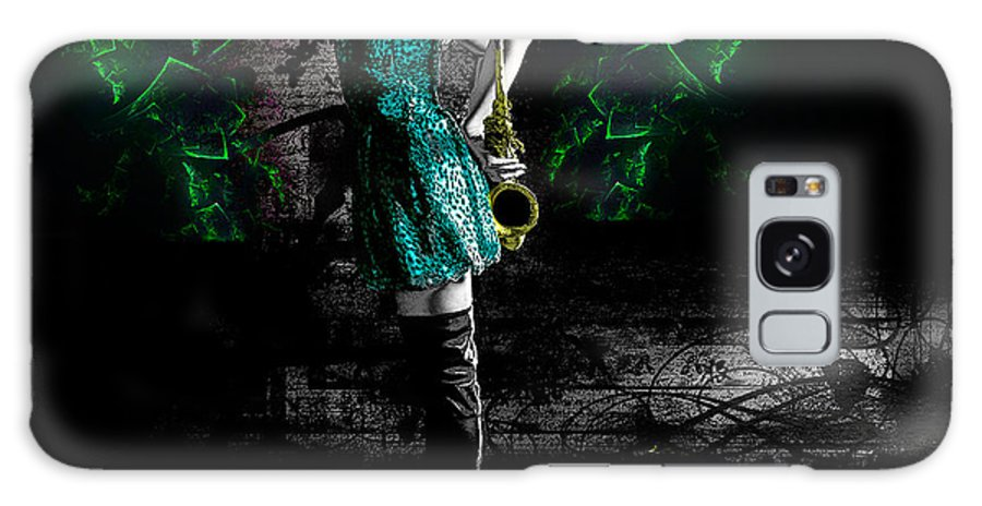 Contemplation Female Sax Galaxy S8 Case featuring the digital art Contemplation by Paul Martin