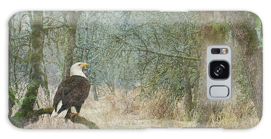 Bald Eagle Galaxy S8 Case featuring the photograph Content And Curious by Angie Vogel