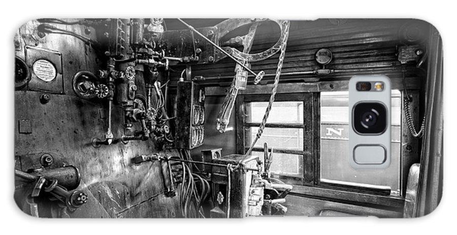 Locomotive Galaxy S8 Case featuring the photograph Controls Of Steam Locomotive No. 611 C. 1950 by Daniel Hagerman