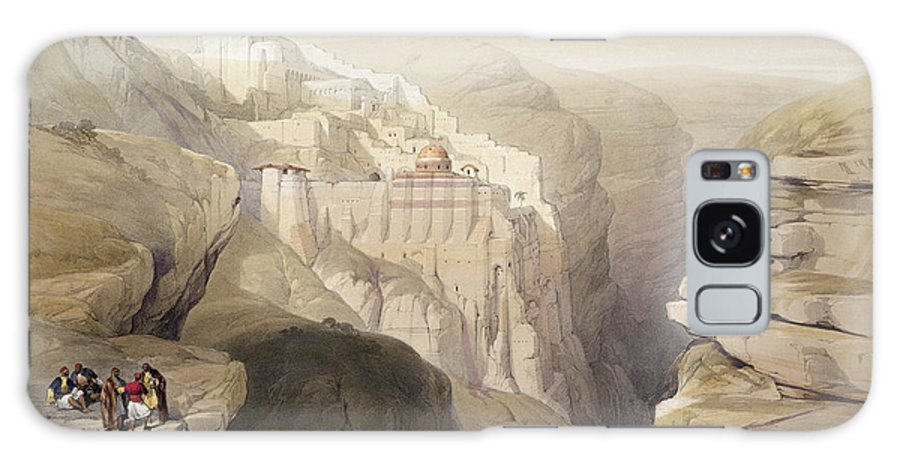 Landscape Galaxy S8 Case featuring the drawing Convent Of St. Saba, April 4th 1839 by David Roberts