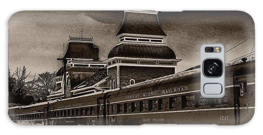 Railroad Galaxy S8 Case featuring the photograph Conway Rail Station by Fred LaPoint
