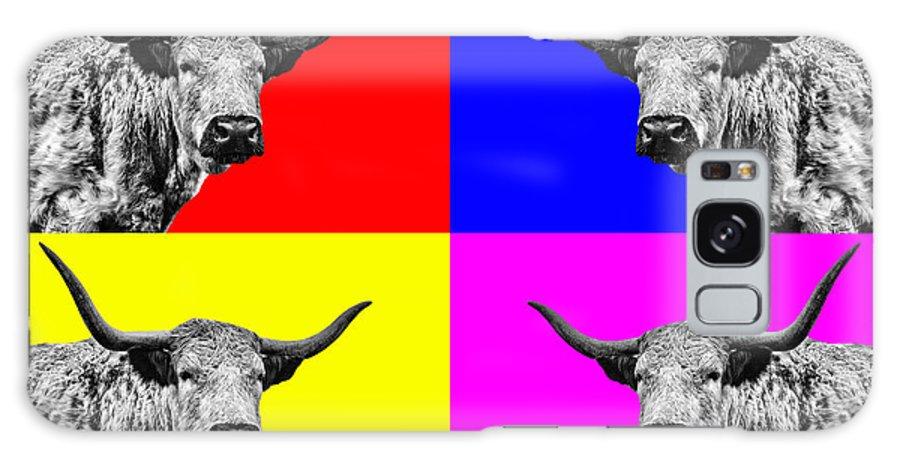 Cow Galaxy S8 Case featuring the photograph Coo Pop Art by John Farnan