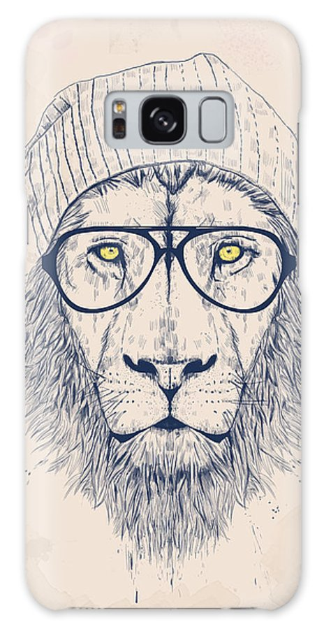 Lion Galaxy S8 Case featuring the digital art Cool Lion by Balazs Solti