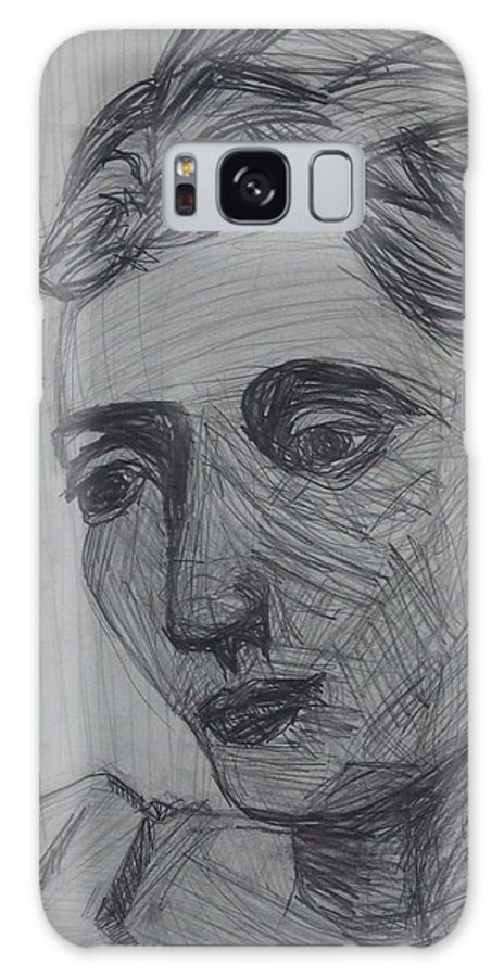 Portrait Galaxy S8 Case featuring the drawing Copy by Erika Chamberlin