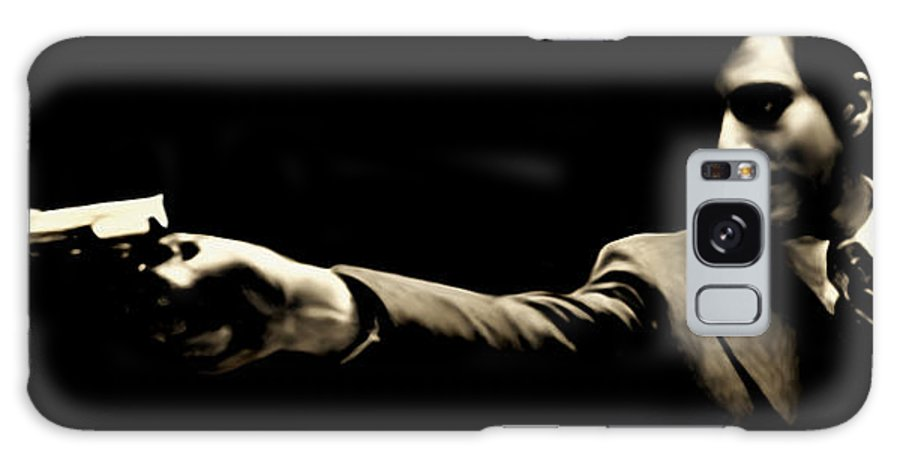 Mafia Galaxy S8 Case featuring the painting Corleone by Laurence Adamson