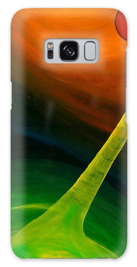 Red Galaxy S8 Case featuring the painting Cosmic Energy by Peter Havelka