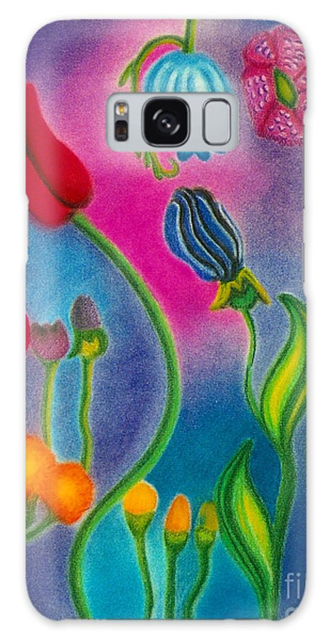 Flowers Galaxy S8 Case featuring the drawing Cosmic Gargen by Christine Perry