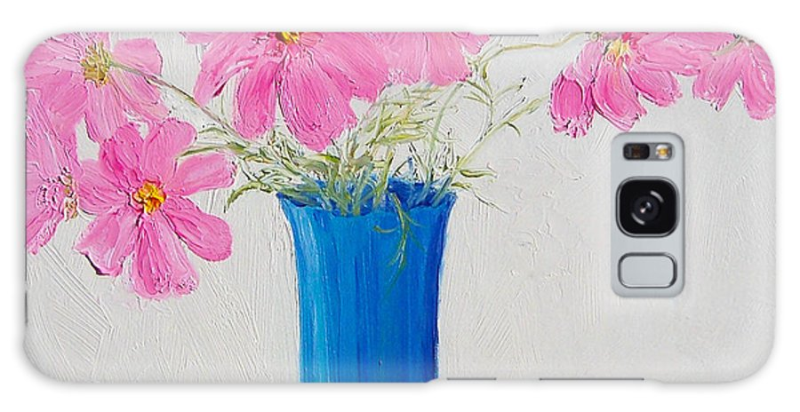 Cosmos Flowers Galaxy S8 Case featuring the painting Cosmos Flowers by Jan Matson