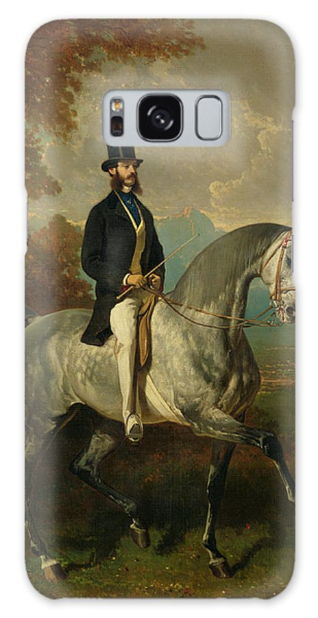 Comte Galaxy S8 Case featuring the photograph Count Alfred De Montgomery 1810-91 1850-60 Oil On Canvas by Alfred Dedreux