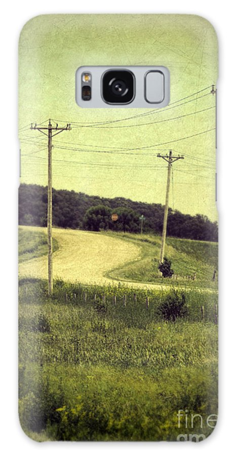 Road Galaxy S8 Case featuring the photograph Country Dirt Road And Telephone Poles by Jill Battaglia