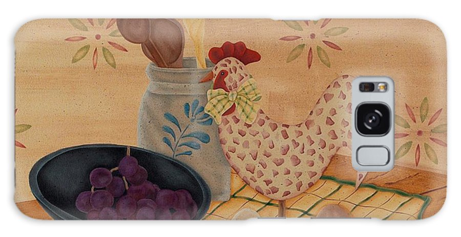 Rooster Galaxy S8 Case featuring the painting Country Kitchen by Tracy Campbell