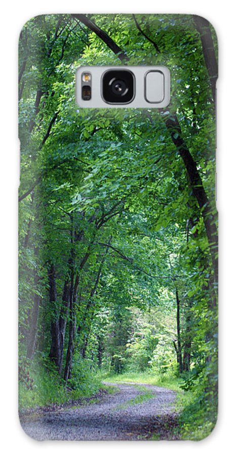 Tree Galaxy S8 Case featuring the photograph Country Lane by Cricket Hackmann