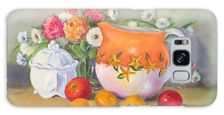 Country Pitcher Galaxy S8 Case featuring the painting Country Pitcher With Sugar Bowl by Jean Costa