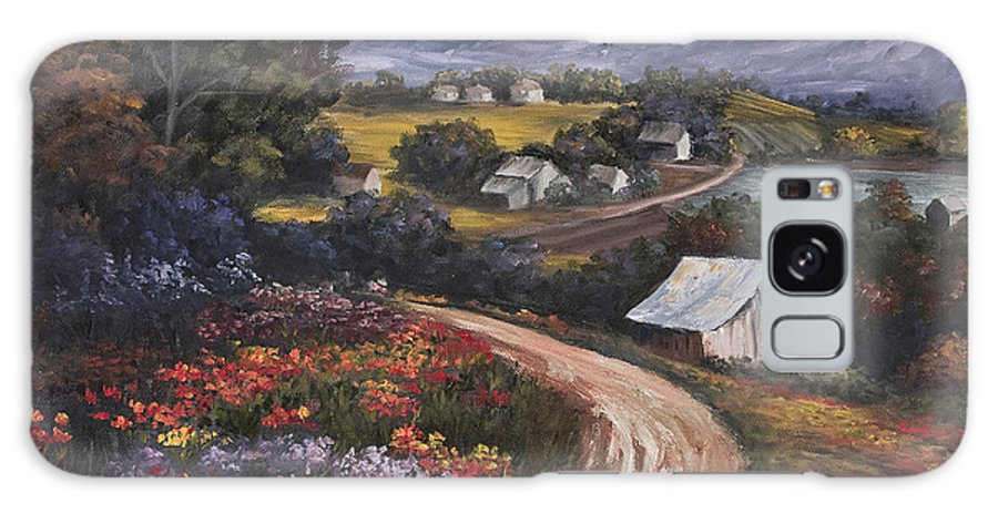 Landscape Galaxy Case featuring the painting Country Road by Darice Machel McGuire
