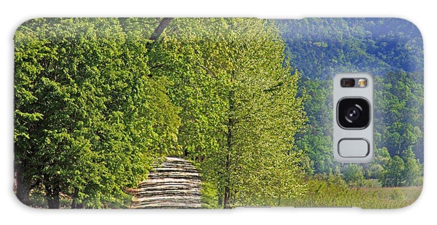 Country Road. Green Trees Galaxy S8 Case featuring the photograph Country Road by Geraldine DeBoer