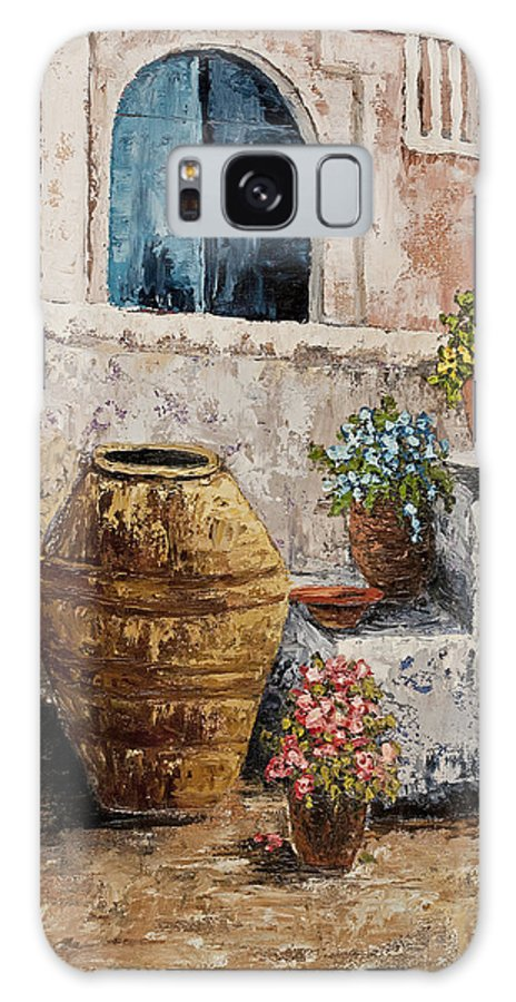 Courtyard Galaxy Case featuring the painting Courtyard 2 by Darice Machel McGuire