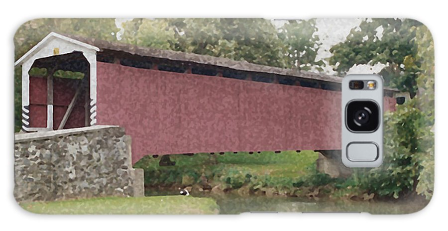 Covered Bridge Galaxy S8 Case featuring the photograph Covered Bridge by Aileen Mayer