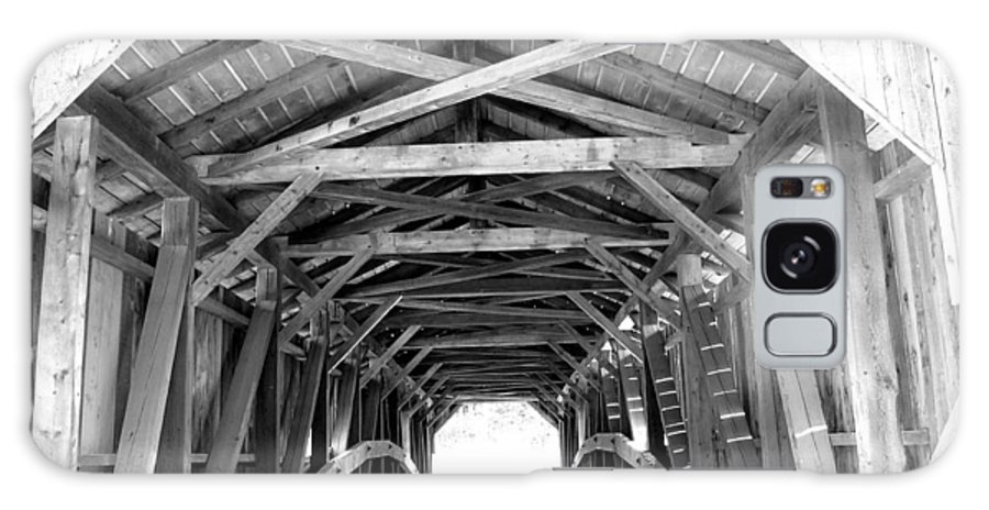 Wooden Bridge Galaxy S8 Case featuring the photograph Covered Bridge Architecture by Barbara McDevitt