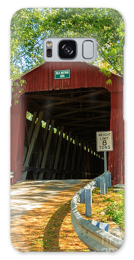 Covered Bridge Galaxy S8 Case featuring the photograph Covered Bridge In Fall by Terri Morris