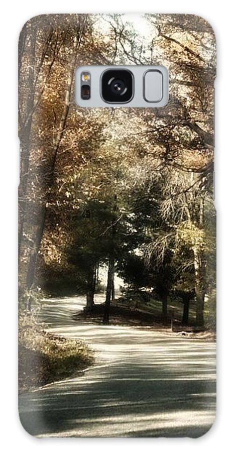 Scenery Galaxy S8 Case featuring the photograph Covered Bridge Road by Judith Butler