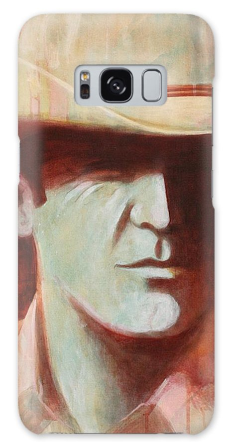 Large Hand-painted Marlboro Type Cowboy  Galaxy S8 Case featuring the painting Cowboy by J W Kelly