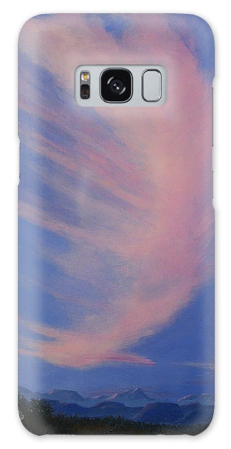 Western Galaxy Case featuring the painting Cowboy Wakeup Call by Janis Mock-Jones