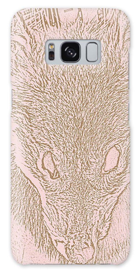 Coyote Galaxy S8 Case featuring the digital art Coyote Headdress 3					 by Lovina Wright