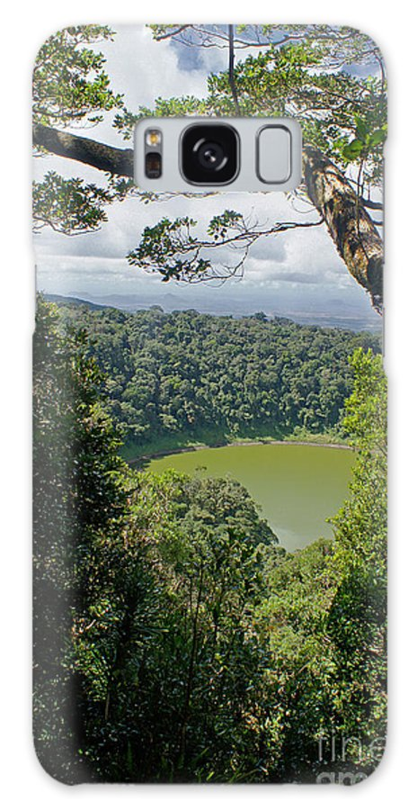 Nature Galaxy S8 Case featuring the photograph craterlake in Montagne d'Ambre National Park Madagascar by Rudi Prott