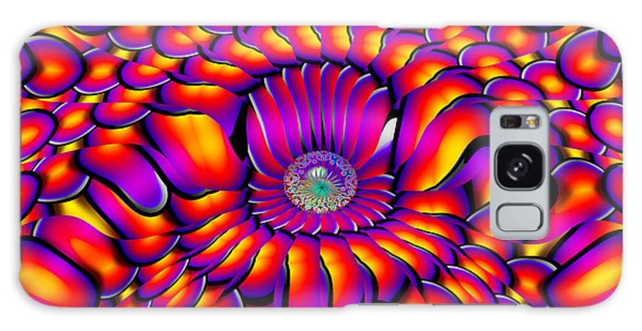 Orange Galaxy S8 Case featuring the digital art Crazy Boy by Robert Orinski