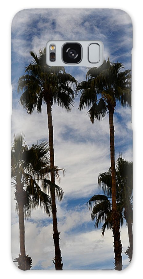 Palm Springs Galaxy S8 Case featuring the photograph Crazy Cloud Palms by Ross Jamison