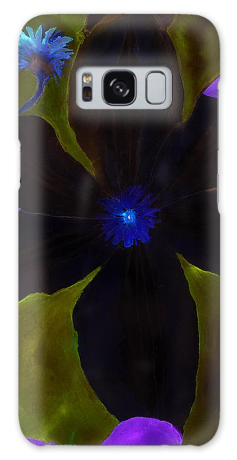 Clematis Galaxy S8 Case featuring the painting Crazy Exposure Clematis by Ann Michelle Swadener