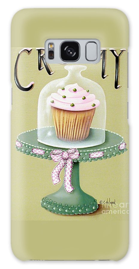 Art Galaxy S8 Case featuring the painting Creamy Cupcake by Catherine Holman